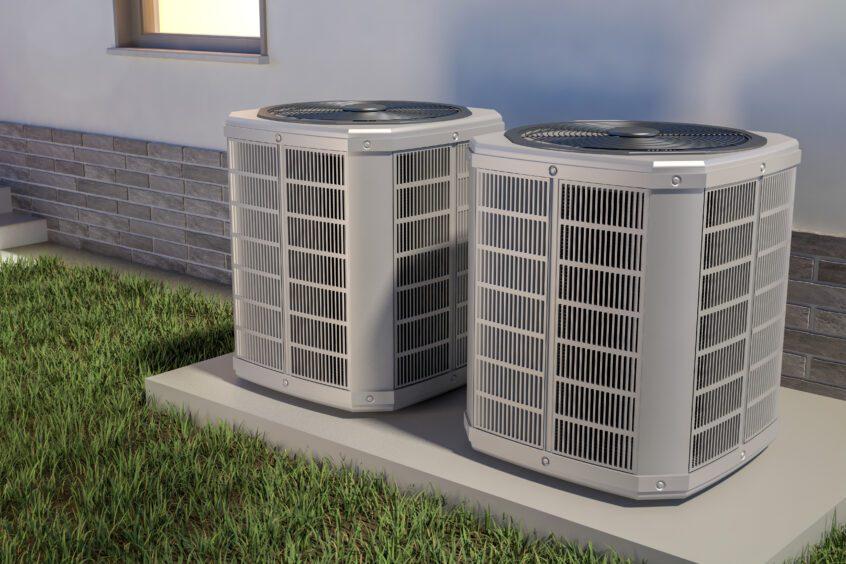 visual image of AC units