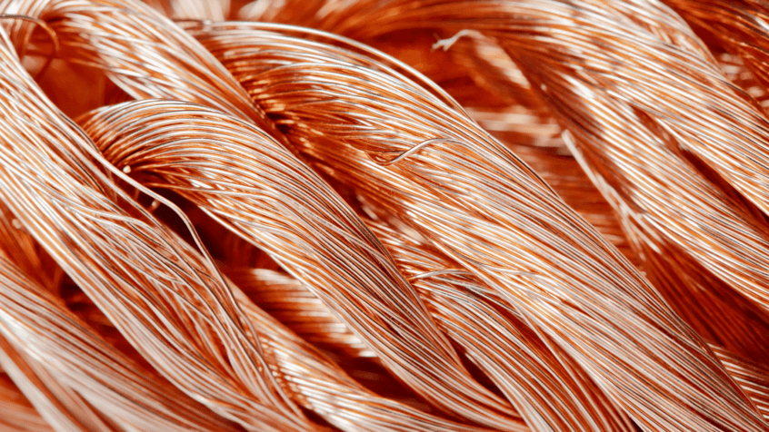 visual image of bundled copper wiring