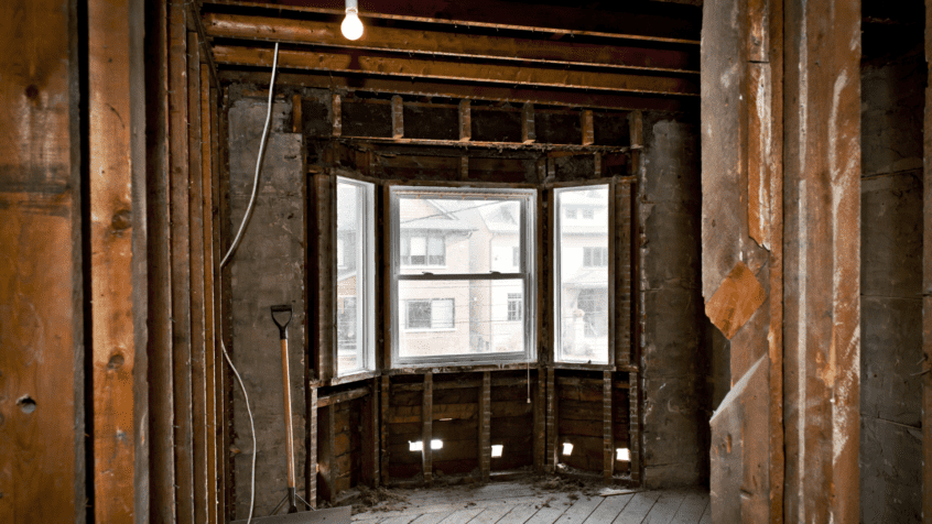 visual image of renovations of old house